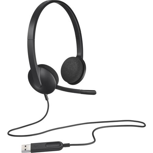 Diadema Con Microfono Logitech H340 Usb Supresor De Ruido