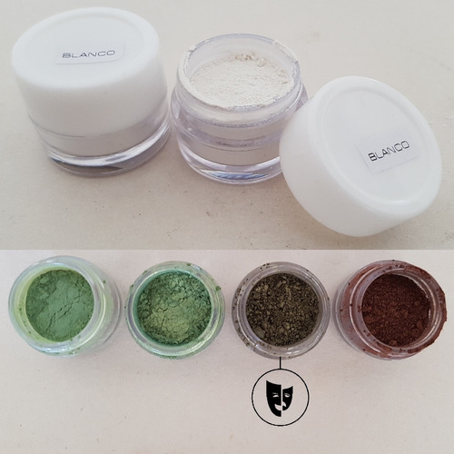 Sombra En Polvo Perla Pura Titi Env 2gr Pigmento Verde Metal