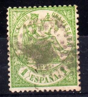 Estampilla España Numero 148 Año 1874 45 Euros Catalogo