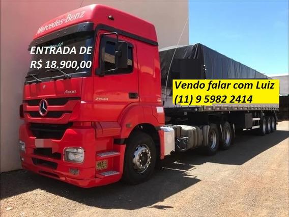 Mb Axor 2544 2012/2012 Com Carreta