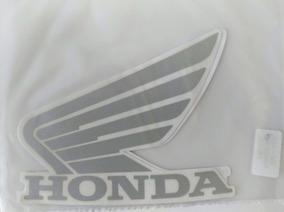 Kit Jogo Faixa Asa Tanque Adesivo Honda 04/13 Prata