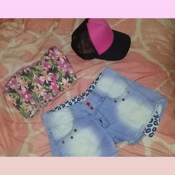 Short Jeans -tiro Medio