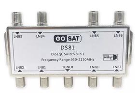 Chave Comutora Diseqc 8x1 Switch 1.1 Para Até 8 Antenas