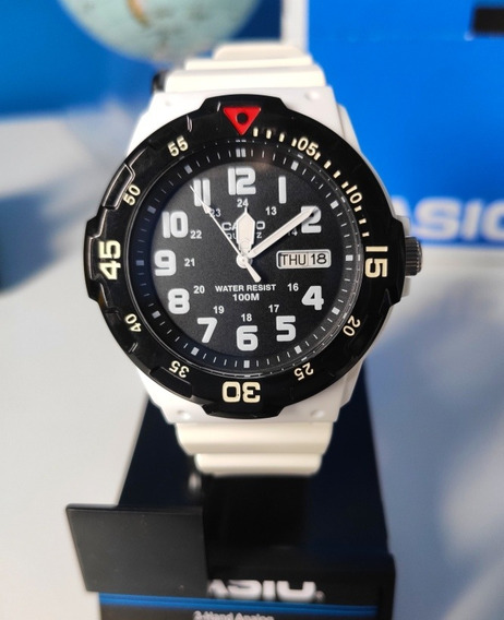 Relógio Casio Branco E Preto Original N/ Caixa