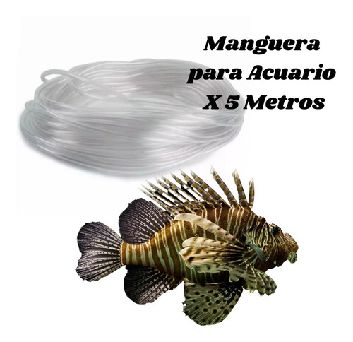 Manguera Para Acuario X 5 Metros Transparente