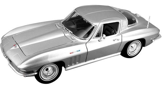 Auto Chevrolet Corvette 1965 A Escala 1/18 Coleccion Romemut