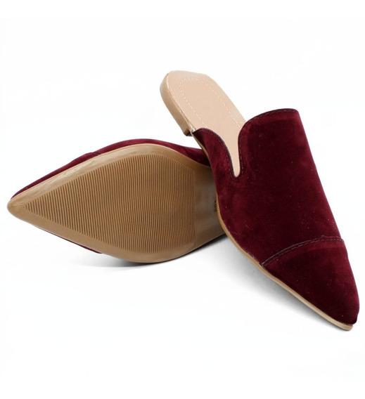 Sapatilha Feminina Mule Veludo Bico Fino Cod: 152