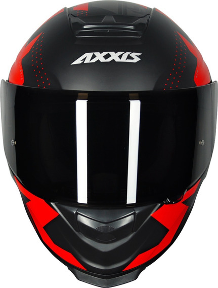 Capacete Axxis Eagle Diagon Matt Black/grey/red