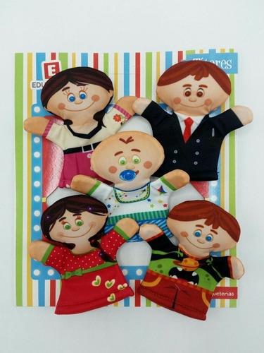 Titeres X 5 Mini Dedo Modelos Familia Dramatizacion Educando