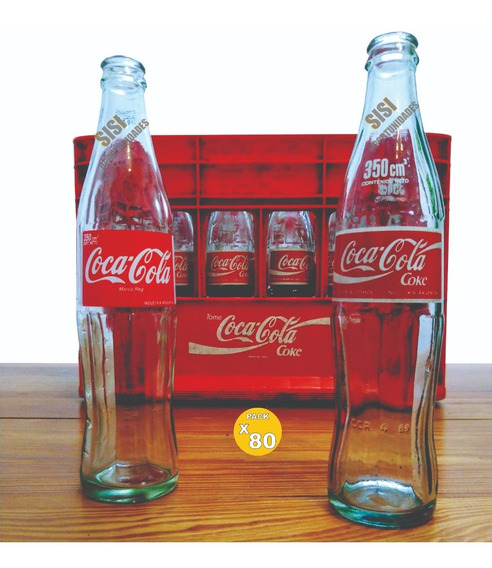80 Botellas Antigua Coca Cola 350cm3 80 90 20 Decoracion