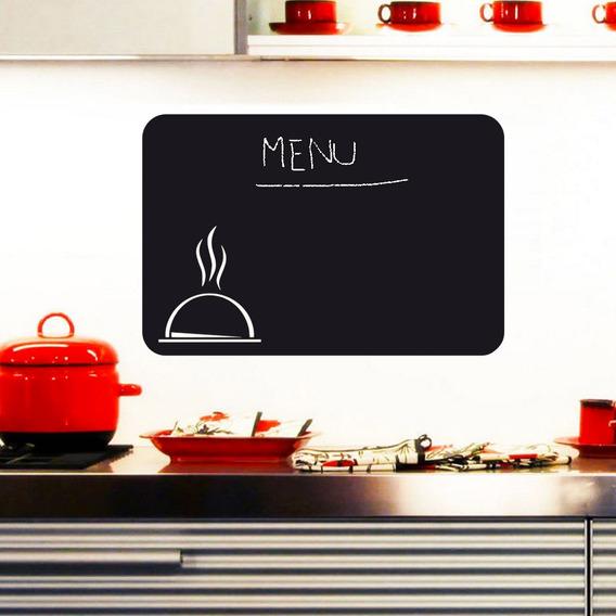 Adesivo Parede Cozinha Menu Recados Receitas Lousa Giz 90x60