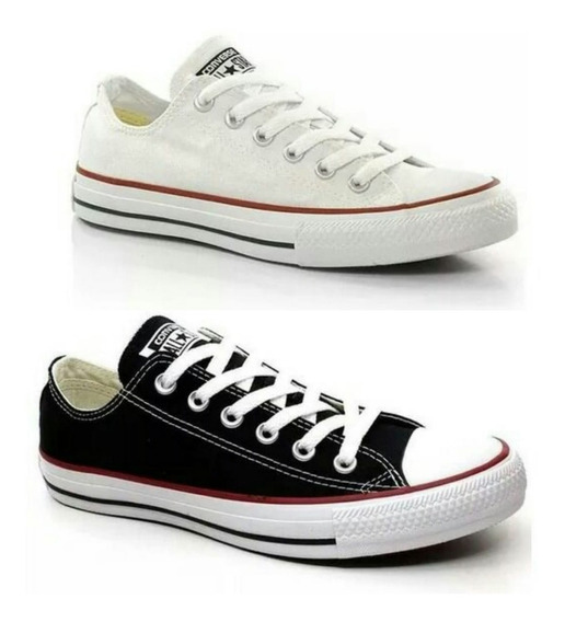 Combo All Star Converse Lona Feminino 2 Pares - 50% Off