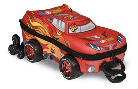Mochila E Lancheira 3d Carro V8 Vermelho