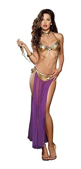 Babydoll Disfraz Erótico Belly Dancer Morado Dreamgirl 9320
