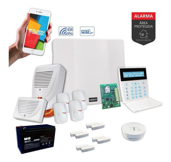 Kit De Alarma Casa Inalambrico Sensor Mag Control Incendio