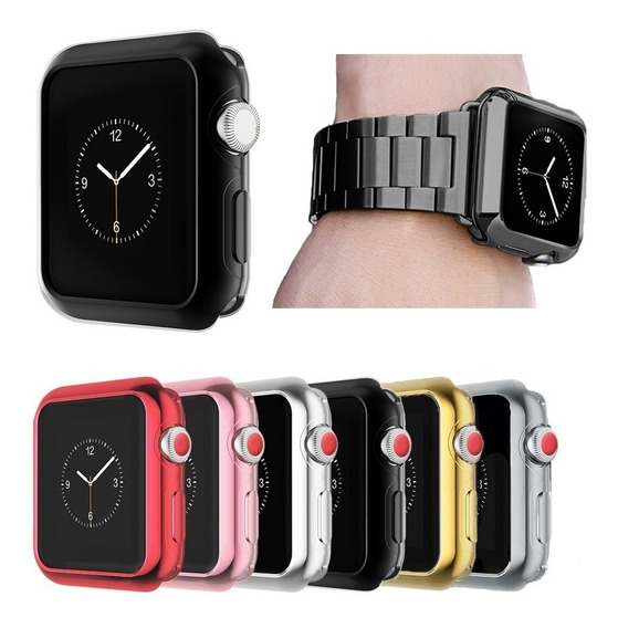 Correa De Lujo + Case Tpu Premium Para Apple Watch