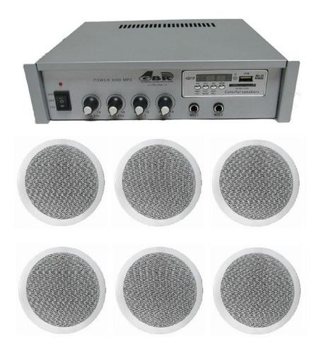 Sistema Musica Funcional Con Rep Usb Bt + 6 Parlantes 6 Esdj