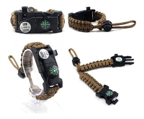 Ledway Paracord Bracelet Tactical Survival Gear Kit 6-in-1 B