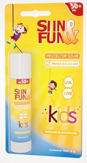 Protector Solar En Barra De Alto Espectro Y Luz Azul Kids