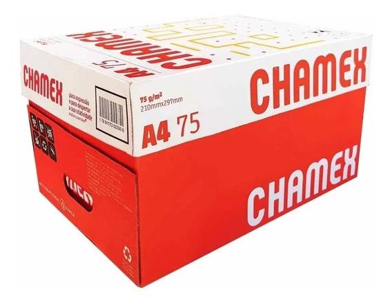 Papel Sulfite A4 Chamex Office 2500 Folhas - 5 Resma 500 Fls