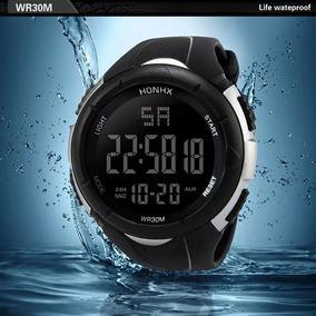 Relógio Digital Esporte Militar Masculino Resistente À Agua
