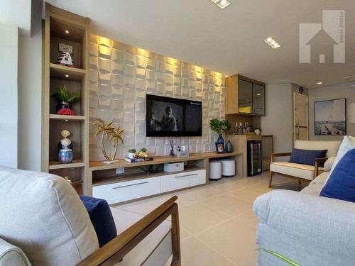 Imagem 1 de 30 de Apartamento Mobiliado Com 3 Dormitórios À Venda, 110 M² - Riviera De São Lourenço - Bertioga/sp - Ap1895