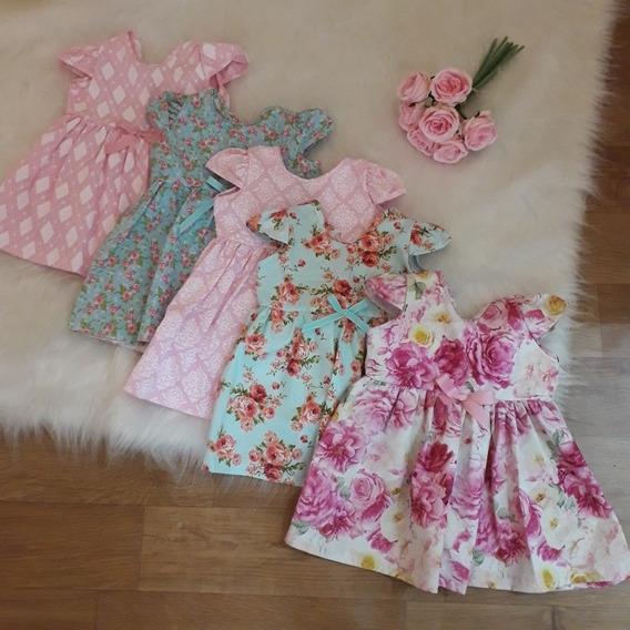 Kit 5 Vestidos Bebê Menina Princesa! Promoção!!!