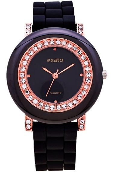 Relógio Feminino Dourado Promoção Barato Envio Imediato