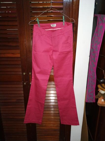 Pantalón De Vestir Rosado Bershka