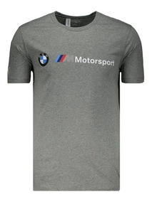 Camiseta Puma Bmw Motorsport Cinza Mescla