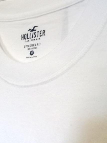 Franela Hollister C/redondo. Oversized. Talla M L Xl.