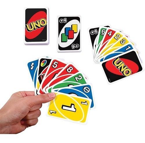 Imagen 1 de 3 de Juego Familiar Cartas Uno Original  Mattel X Docena