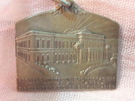 Medalla Centenario Fundacion Esc Normal N1 Rosario 1929