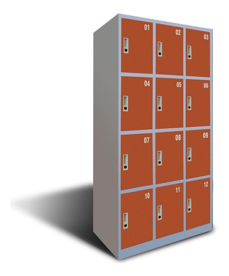 Guardabultos Lockers Metálicos De 12 Puertas