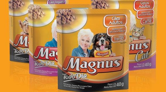 Racao Umida Magnus (caixa C/20 Pacote 40g) Todo Dia 40g=800g