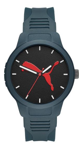 Reloj Caballero Puma Reset V2 P5023 Color Azul Poliuretano