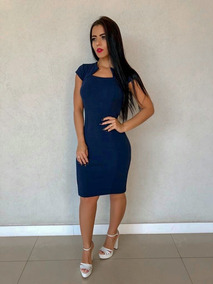 Vestido Tubinho Midi Social Moda Evangelica Feminino Zig Zag