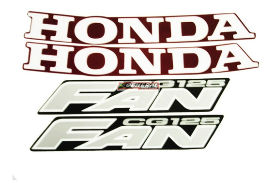 Kit Adesivo Jogo Faixas Moto Honda Fan 125 2007 Vermelha