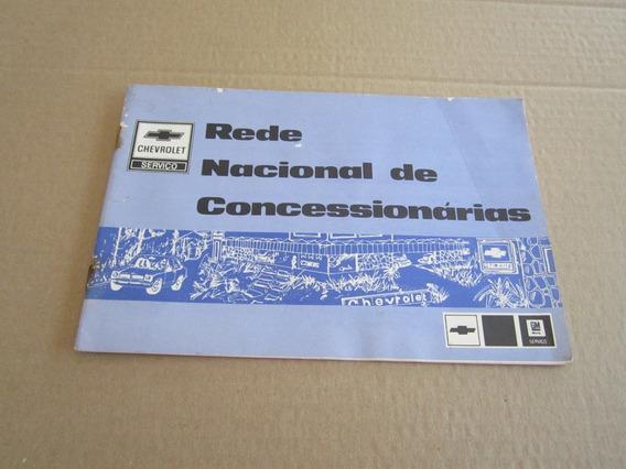 Livreto Rede Nacional Concessionarias Gm - Ano 81 .