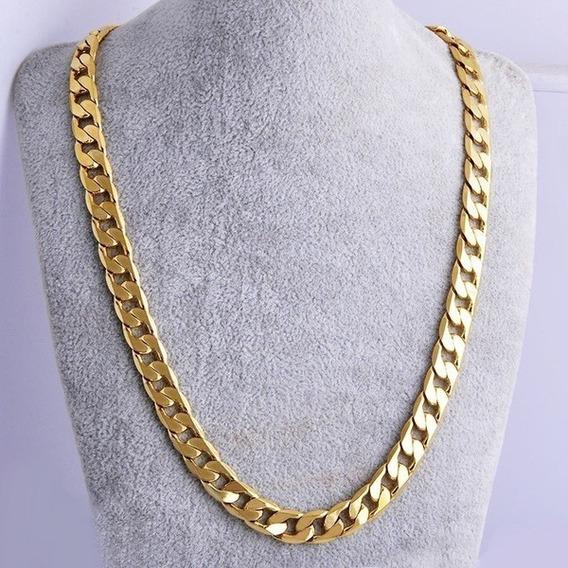 Moda De Luxo Exagerada Homens Mulheres Requintado Colar Ouro