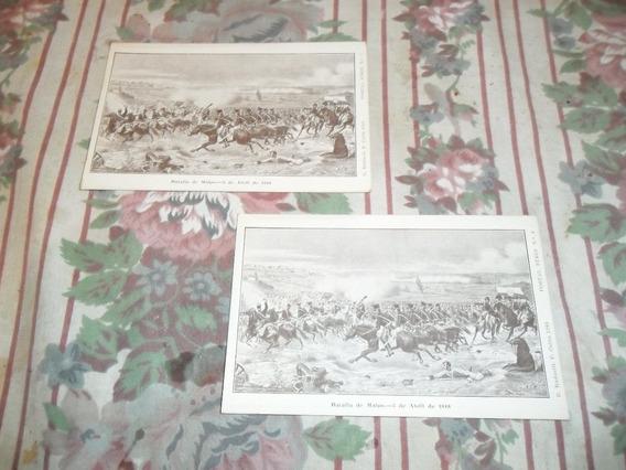 Tarjetas Postales Antiguas Batalla De Maipu San Martin 2 Ejm