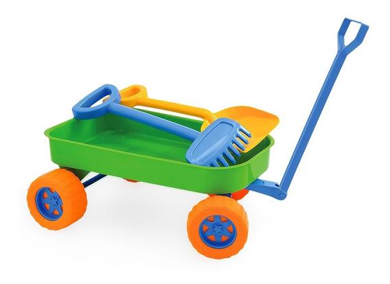 Brinquedo Carrinho De Praia Infantil Com Acessórios Menino
