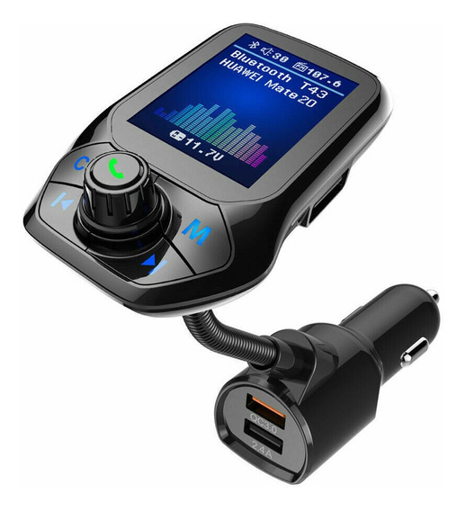 Bluetooth Car Fm Transmissor Mp3 Player Carregador Cor: Prat