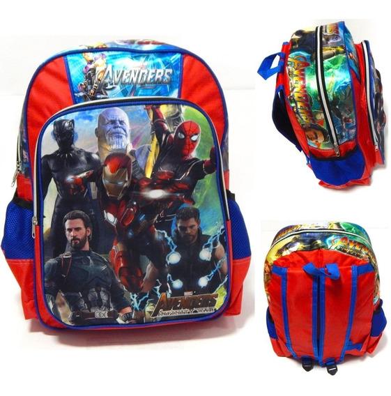 Avengers Mochila 3d Infinity War Thor Thanos Capitan America
