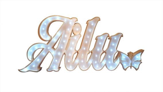 Nombres Iluminados 6 Letras 35 Cm Polyfan Tu Nombre Importa