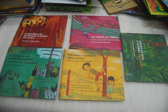 Lote Com 5 Livros Um Dia Na Aldeia