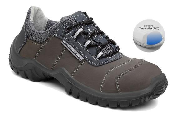 Sapato Ocupacional Em Couro Nobuck Estival Oferta Exclusiva!