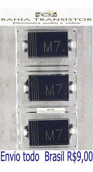 M7 - 1n4007 - In4007 = Kit Com 15 Unidade 1000 V Diodo Smd