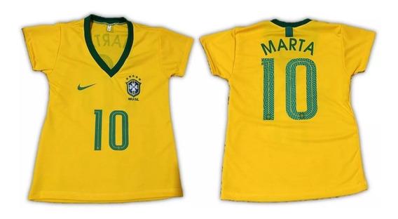 Camisa Do Brasil Marta 10 Seleção Brasileira Feminina 2019