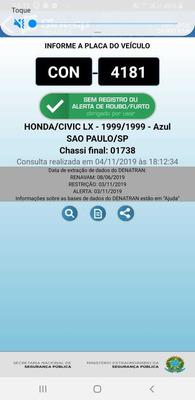 Honda/civic 1.6- Lx-1999/1999-azul